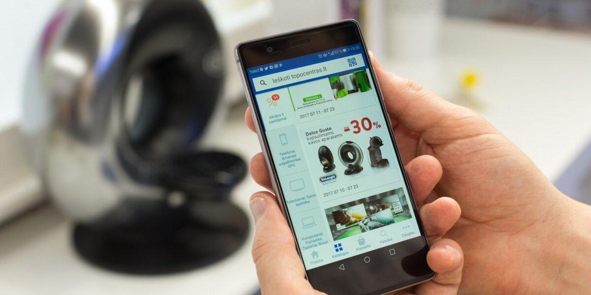 """Aplikaciją išmaniesiems pristatęs """"Topo centras"""" tikisi 30 proc. pirkimo internetu augimo"""