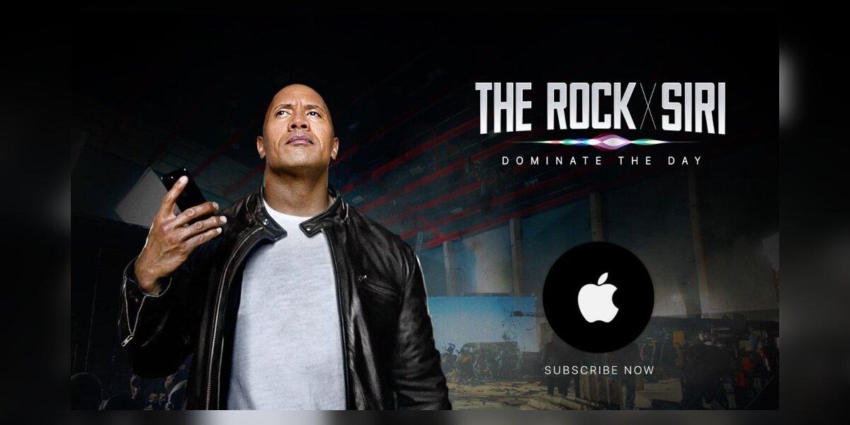 """""""Siri"""" reklama su D. Johnson veiksmo filmų gerbėjams"""