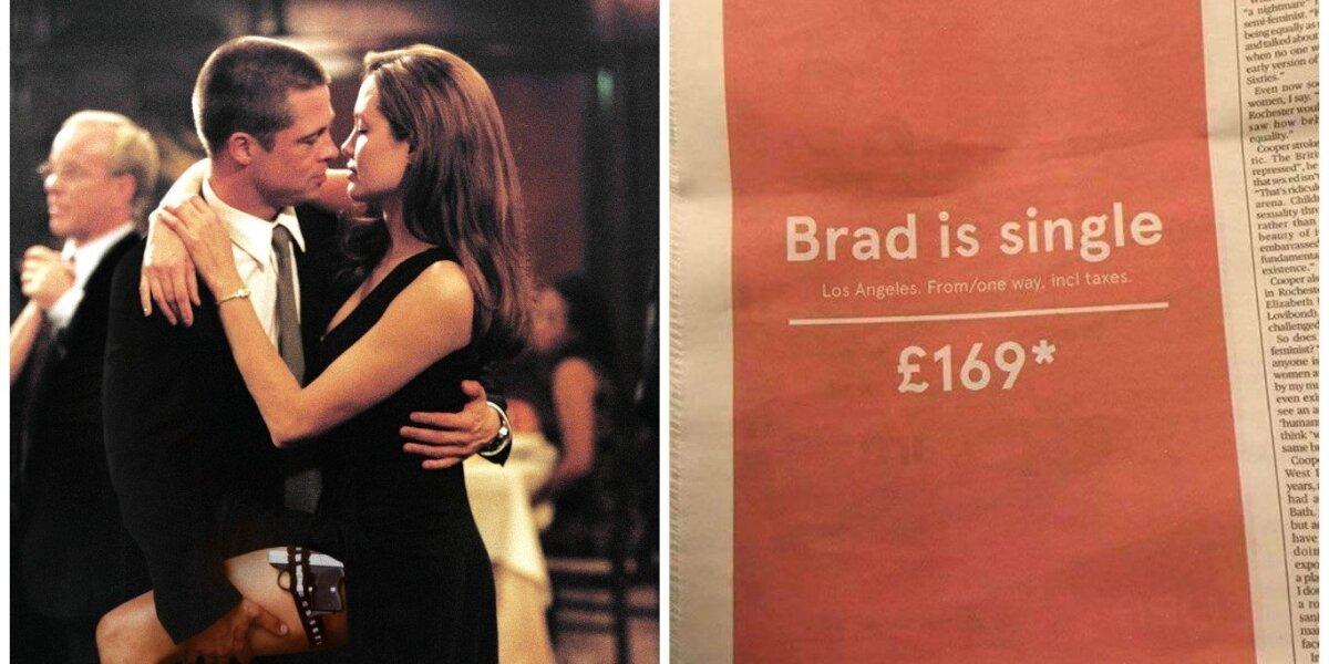 Viliojantis pasiūlymas Brado Pitto gerbėjoms