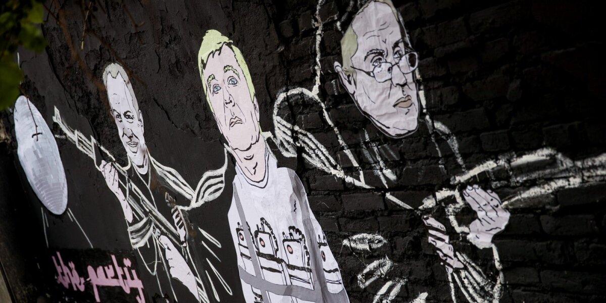 Piešinys Pylimo gatvėje (D. Čečkausko ir R. Jankauskaitės piešinys)