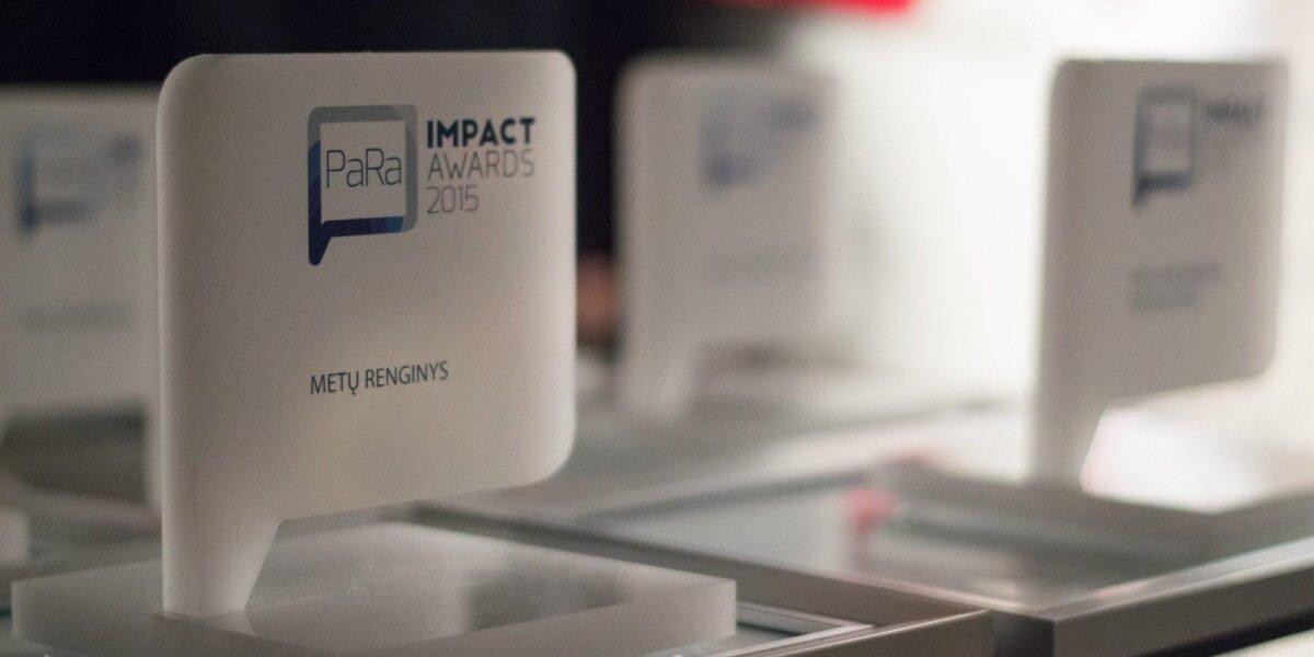 """Prasideda geriausių ryšių su visuomene projektų konkursas """"PaRa / Impact Awards 2016"""""""
