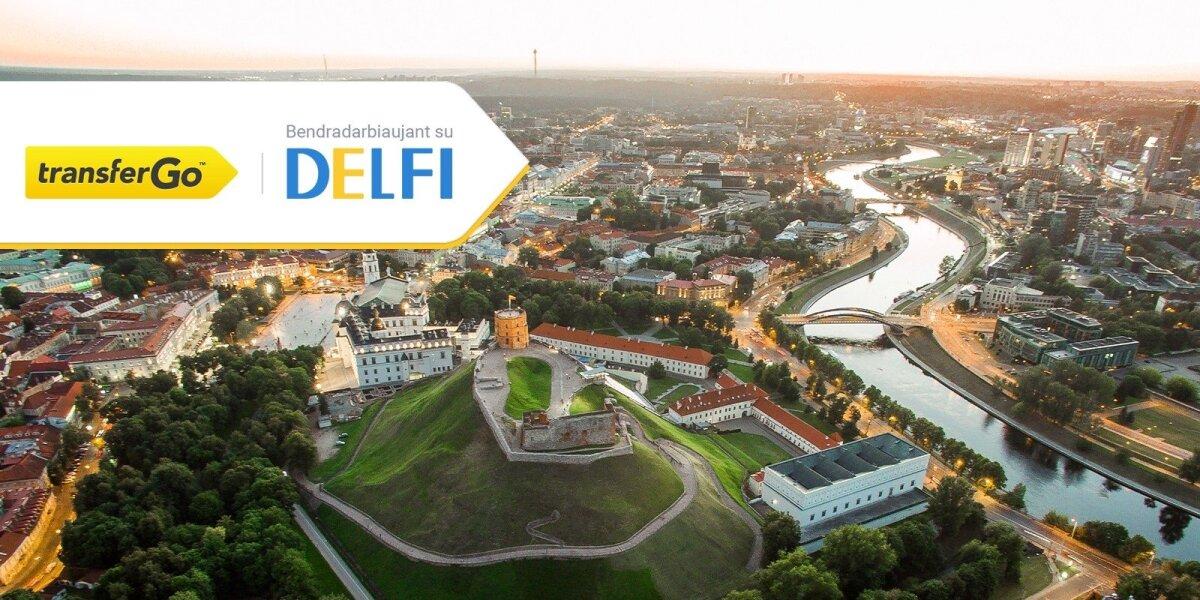 """""""TransferGo"""" bendradarbiaus su DELFI: išskirtiniai pasiūlymai tarptautiniams pinigų pervedimams"""