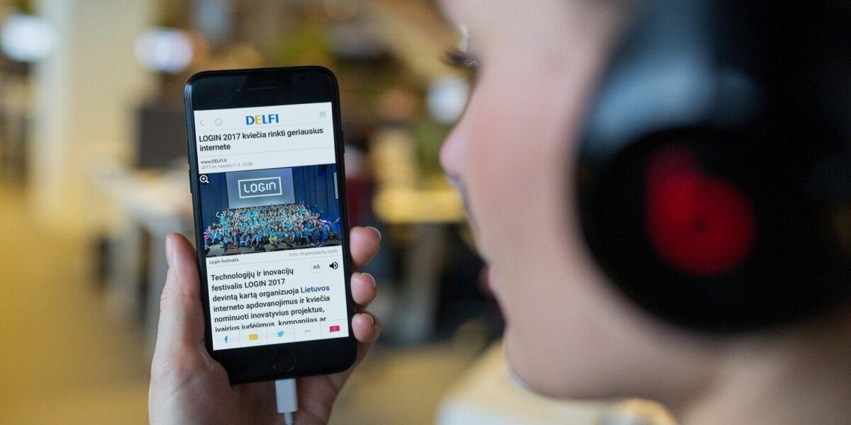 Mobiliajame DELFI ‒ galimybė klausytis naujienas
