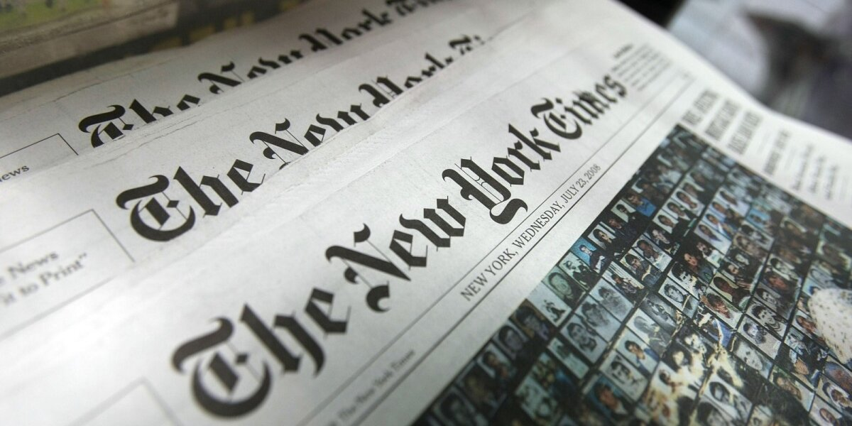 """Kovoje su netikromis naujienomis - """"The New York Times"""" rinkodaros kampanija"""