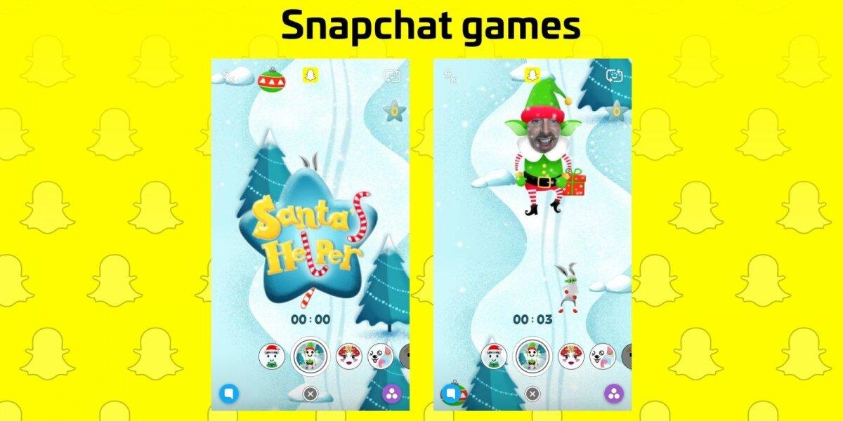 """""""Snapchat"""" pristatė veidu valdomą kalėdinį žaidimą"""