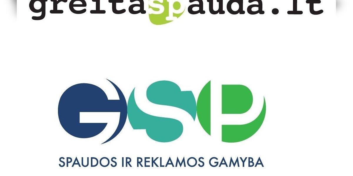 """""""Greita spauda"""" keičia prekinį ženklą – tampa GSP"""