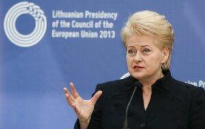 D. Grybauskaitė: VTEK veikla negali būti politizuojama