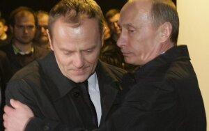 Donaldas Tuskas ir Vladimiras Putinas