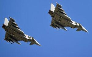 """Vokietija atsiųs šešis naikintuvus """"Eurofighter"""""""
