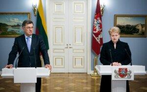 """D. Grybauskaitė: raštiškas """"Gazprom"""" pasiūlymas nepriimtinas"""