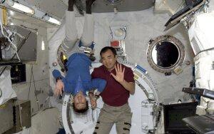 Japonijos astronautai Naoko Yamazaki ir Soichi Noguchi Tarptautinėje kosminėje stotyje