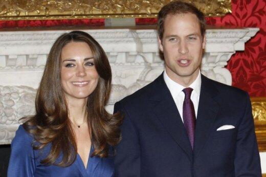 Princas Williamas su sužadėtine Kate Middleton