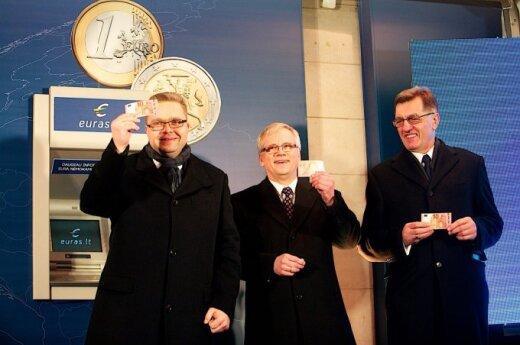 Литвa встретила Новый год с евро