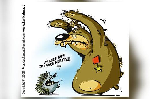 Rusija, Lietuva, rusofobija, agresija, santykiai, karikatūra