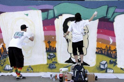 Graffiti piešinyje Kęstutis Kemzūra virto mafijos šeimos galva