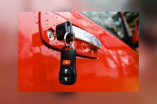 Automobilio signalizacijos pultelis