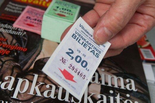 Kiekvienas vilnietis per metus pažymėdavo apie 60 bilietėlių