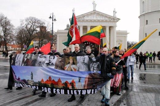 """Шествие радикалов прошло под лозунгом """"Литва – литовцам"""""""