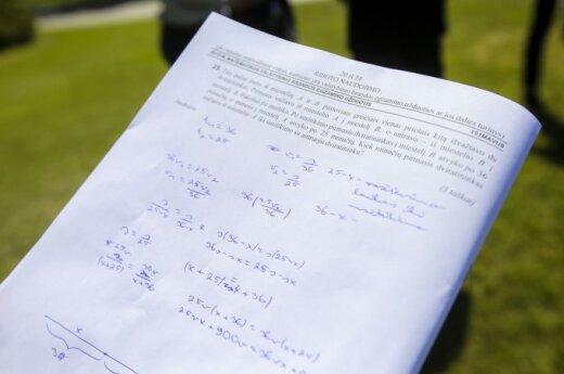 Baiminasi dėl dvyliktokų matematikos egzamino: dėl jo mokiniai patiria daug streso