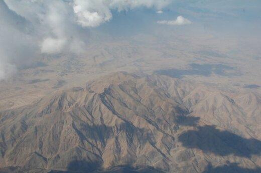 Afganistano kalnai iš paukščio skrydžio
