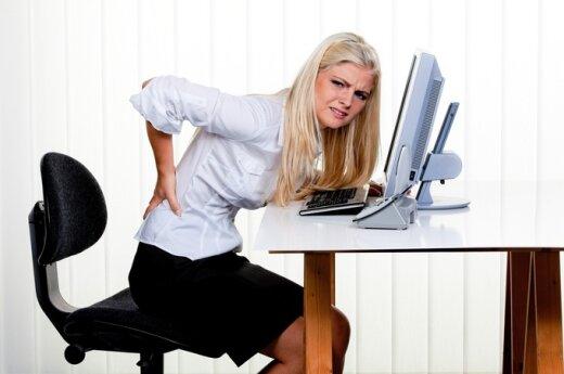 Sėdėjimas graso stuburo išvarža