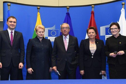 Taavis Roivas, Dalia Grybauskaitė, Jeanas-Claude'as Junckeris,  Laimduota Straujuma, Ewa Kopacz