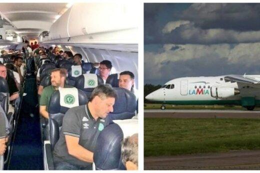 Lėktuvu skrido Brazilijos futbolo komanda