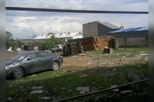 Смерч пронесся над Тульской областью: 15 пострадавших