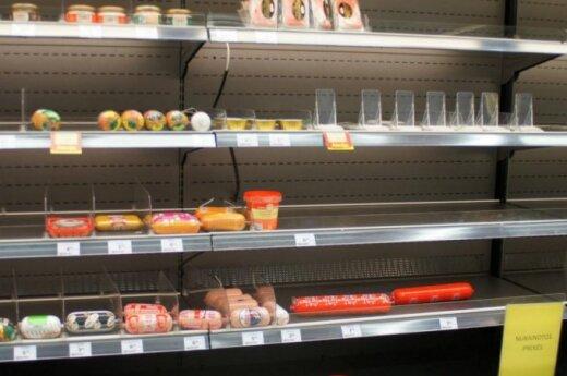 Fresh Market parduotuvės lentynos