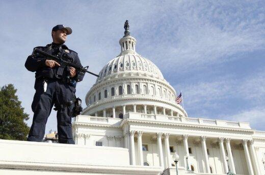Prie JAV Kapitolijaus suimtas asmuo, įtartas teroro akto rengimu