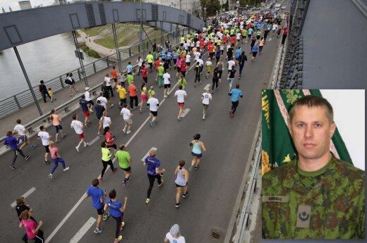 Maratone mirė Didžiosios Kunigaikštienės Birutės ulonų bataliono štabo viršininkas mjr. Vytautas Burokas