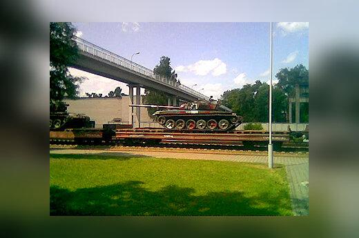 Pro Kybartus vasarą buvo vežami Rusijos tankai