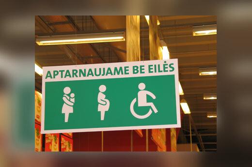 Kasa besilaukiančioms, šeimos su mažamečiais vaikais ir neįgaliesiems