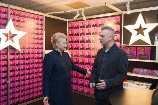 Andrius Mamontovas ir Dalia Grybauskaitė(D.Čeplos nuotr.)