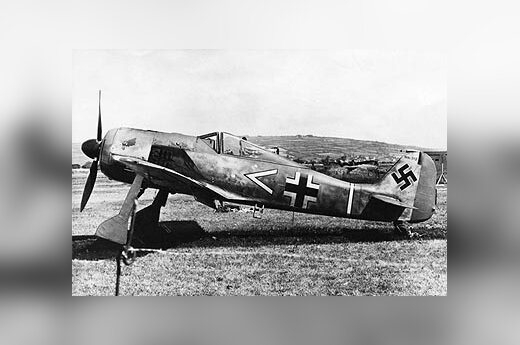 """Antrojo pasaulinio karo laikų vokiečių lėktuvas """"Focke-Wulf""""."""