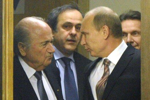 Josephas Blatteris, Michelis Platini ir Vladimiras Putinas