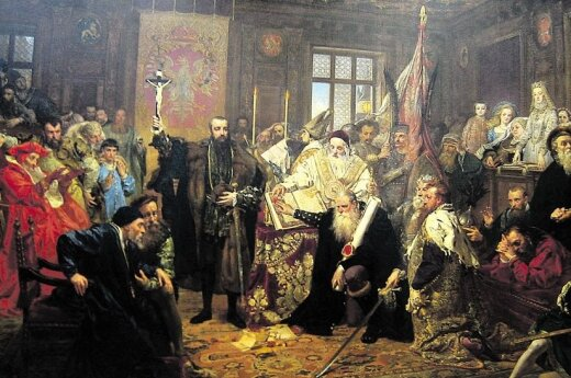 The Union of Lublin. Painting by Jan Matejko