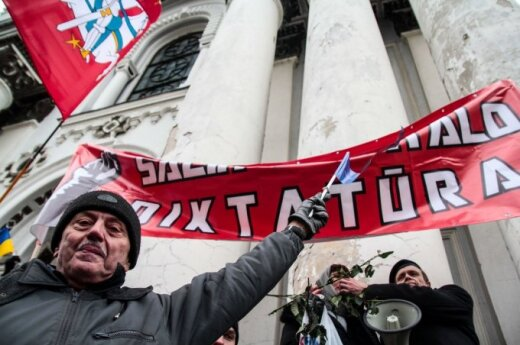 В Каунасе освистали митинг националистов против НАТО и ЕС
