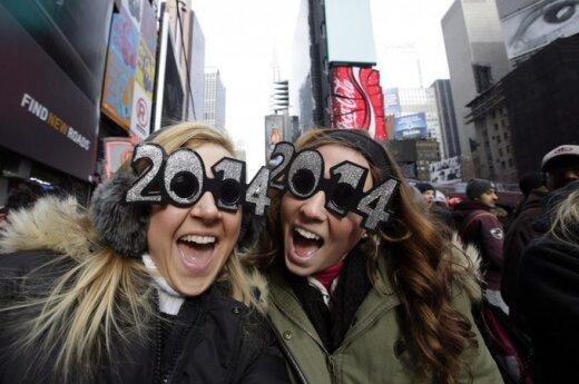 Amerika laukia Naujųjų metų Niujorke