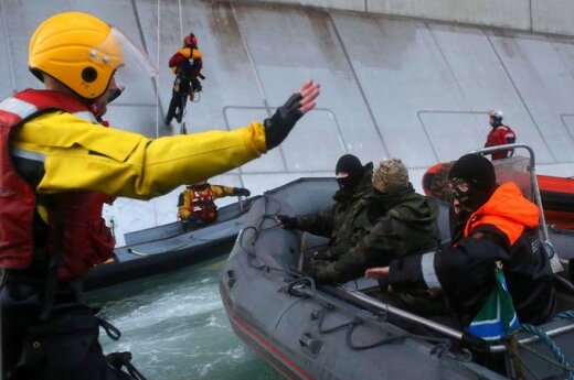 Aktyvistas sulaikomas Rusijos pakrantės apsaugos