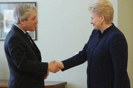 Президент представила главе парламента Британии предстоящее председательство Литвы в ЕС
