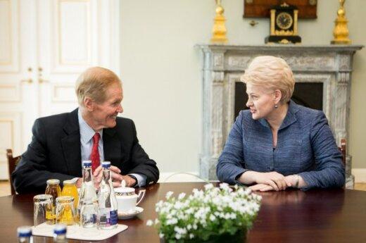 Bill Nelson and Dalia Grybauskaitė