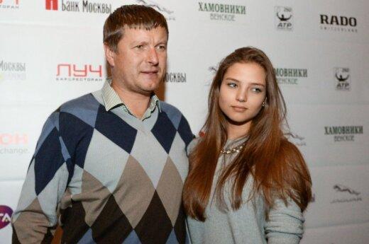 Евгений Кафельников c дочерью Алесей
