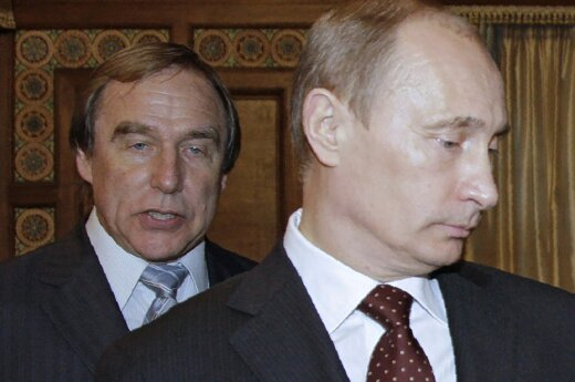 Sergei Roldugin and Vladimir Putin