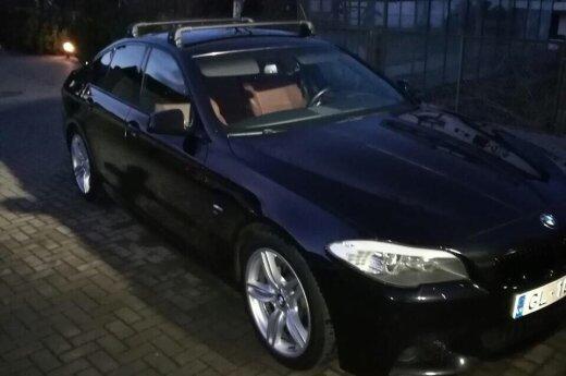Каунасцы сняли на видео угон BMW в Домейкаве
