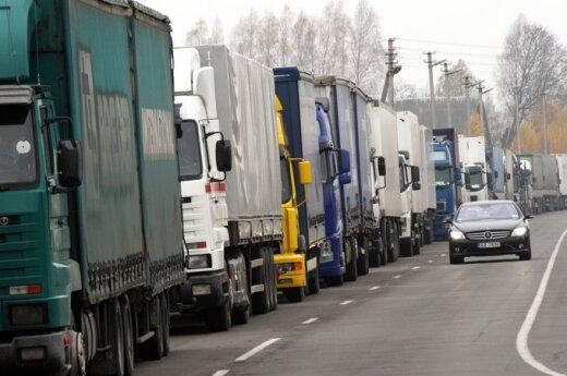 На белорусско-литовской границе снова очереди грузовиков