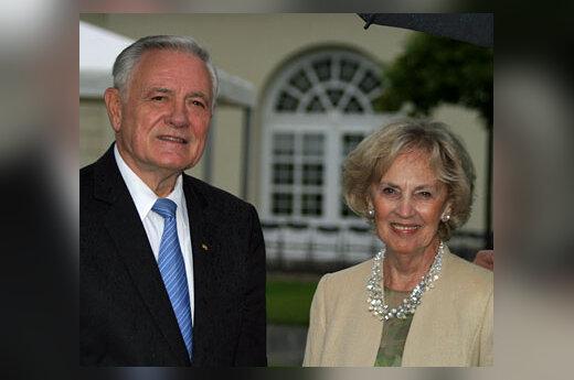 Valdas Adamkus su žmona Alma