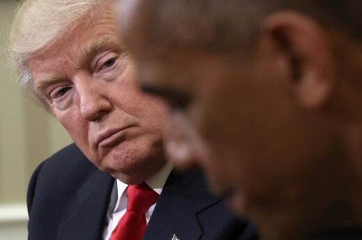 President-elect Donald Trump at the White House with the President Barack Obama