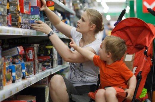 Papiktino nemalonus mamytės elgesys parduotuvėje