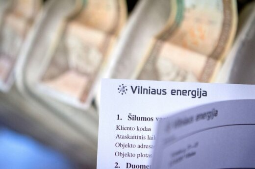 Февральские счета за отопление достигли 1000 литов